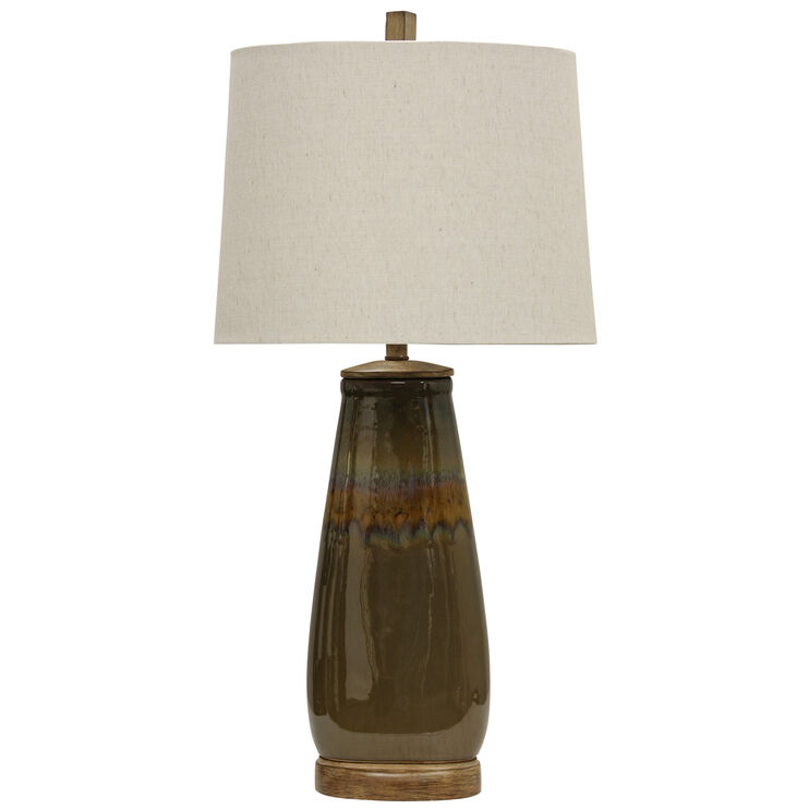 Norcross Brown Glaze Table Lamp