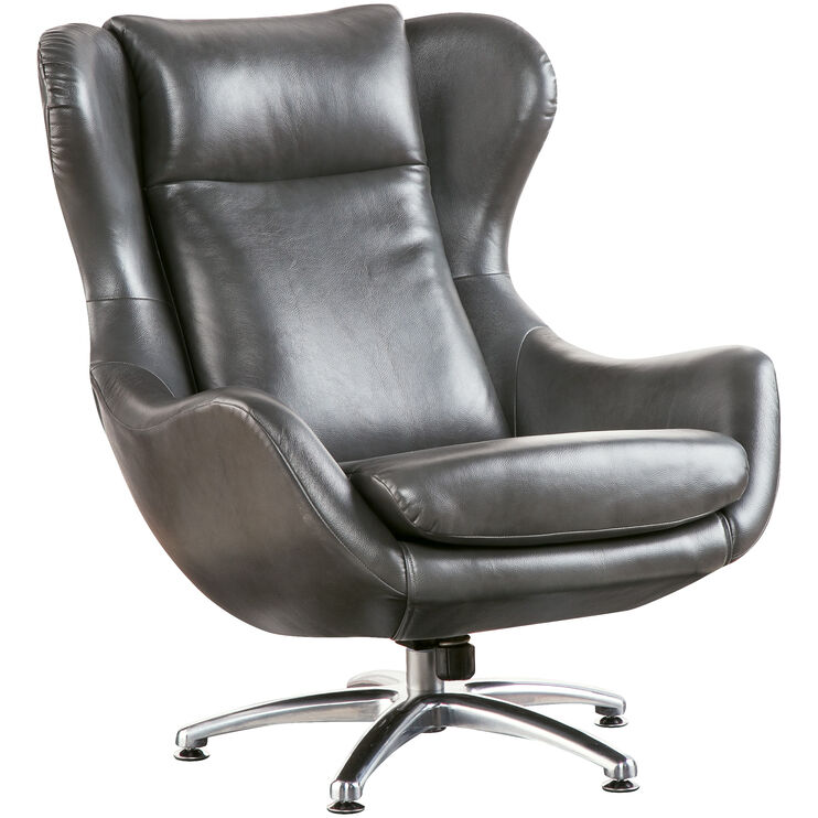Commander Gray Swivel Lounge Chair