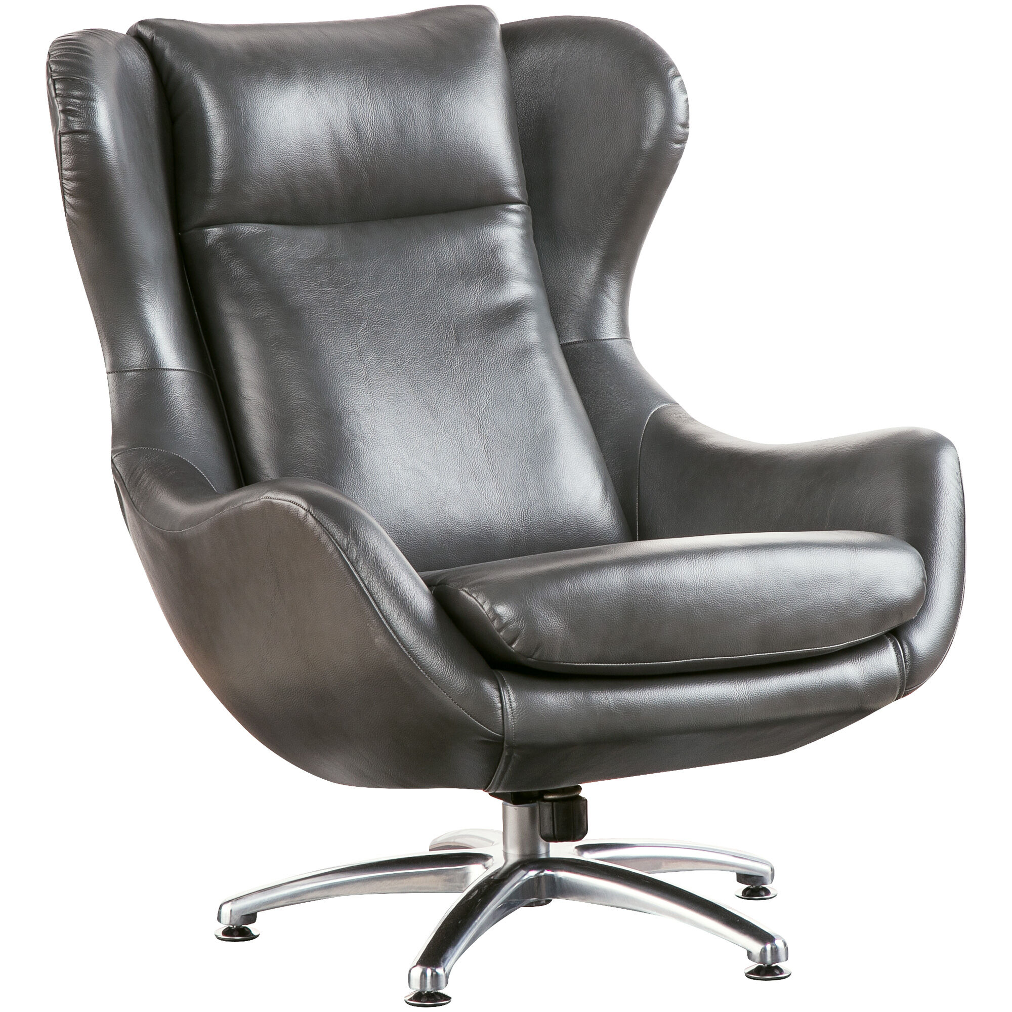 ... Commander Gray Swivel Lounge Chair ...