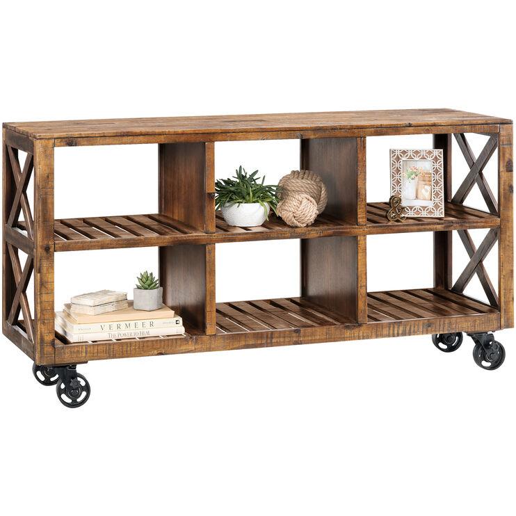 Loftworks Distressed Brown 60 Inch Cart