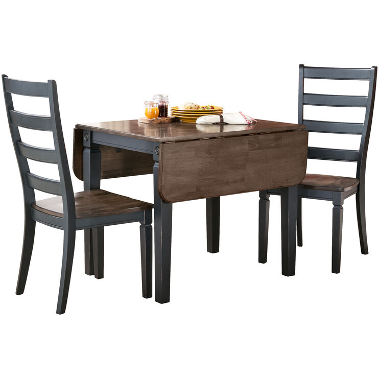 Glennwood 3 Piece Black Dining Set
