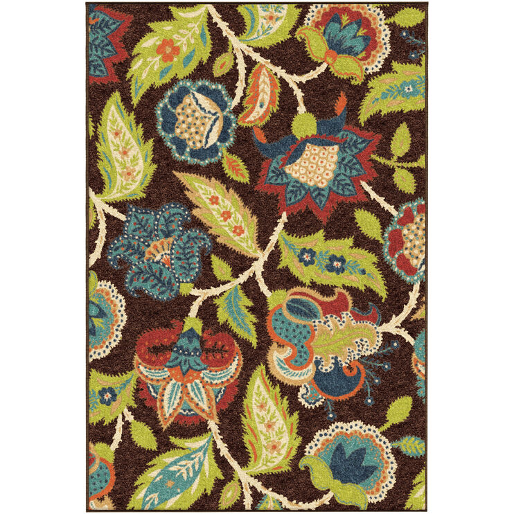 Veranda Ethridge Brown 5 x 8 Rug