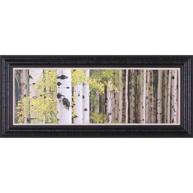 White Forest Standing Framed Art