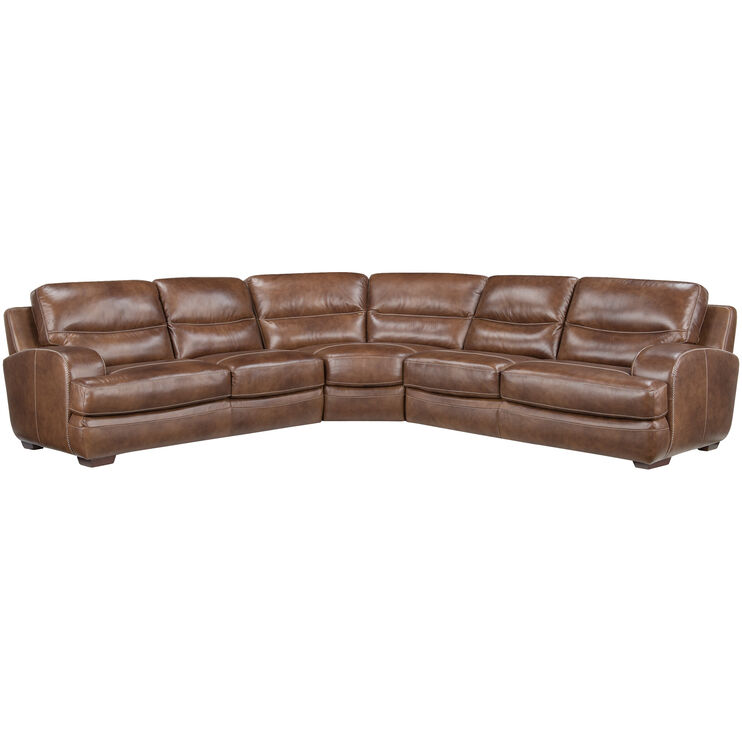 New Haven 3Pc Oak Sectional