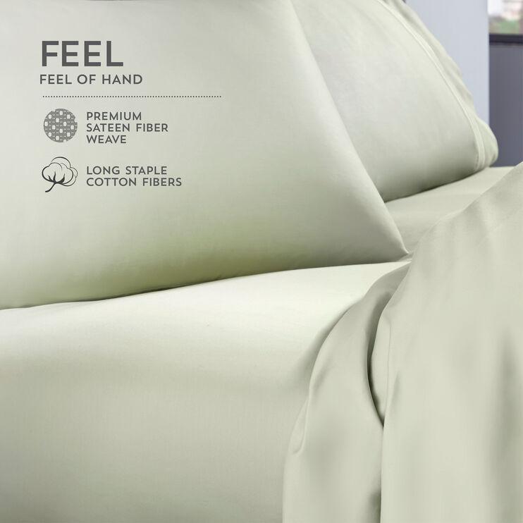 Elements Sage Green Queen Celliant Pillowcase