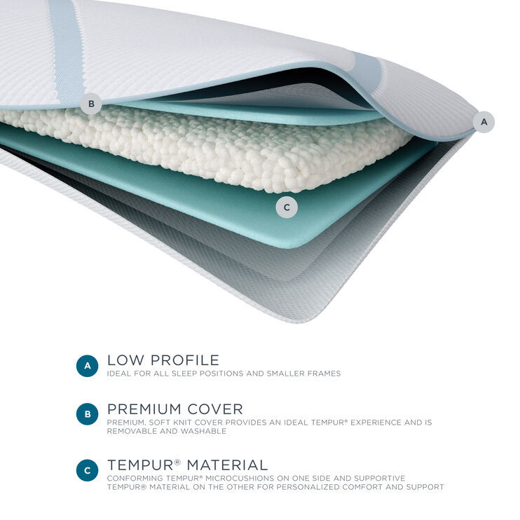 Tempur-Pedic TEMPUR-Adapt Queen Low Profile Pillow