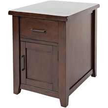 Phalen Arabica Dark Brown Chairside Table