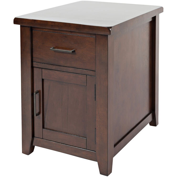 Twin Cities Dark Brown Chairside Table