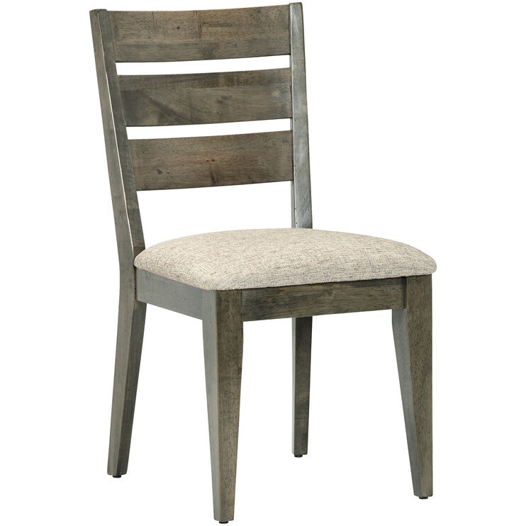 Uptown Mist Gray Ladder Back Side Chair