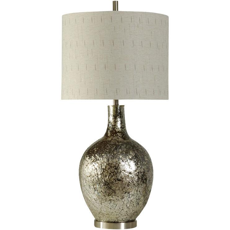 Navarro Silver Glass Table Lamp