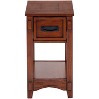 Cross Island Drawer Chairside Table
