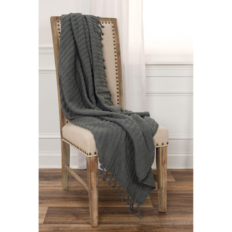 Amanda Dark Gray Throw