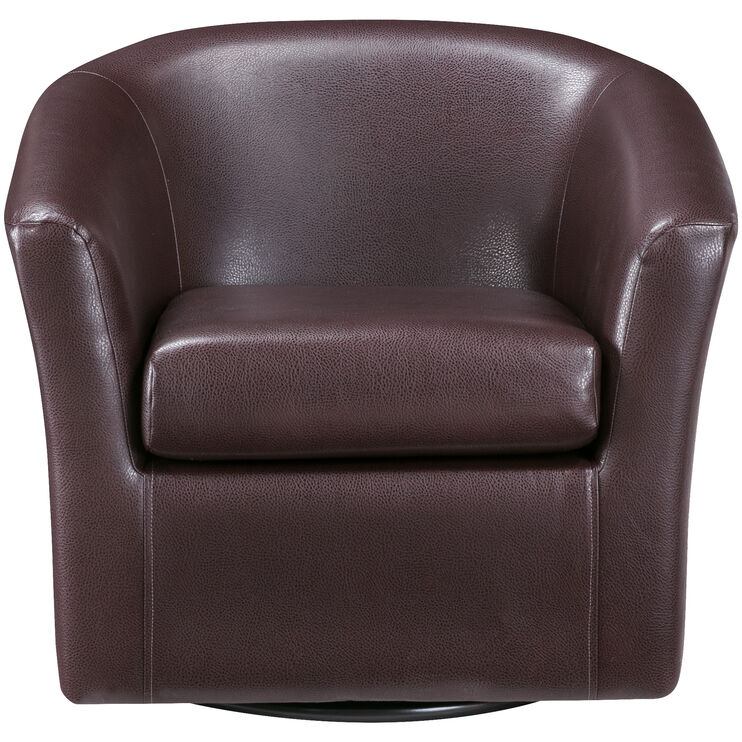 Sten Cognac Swivel Chair