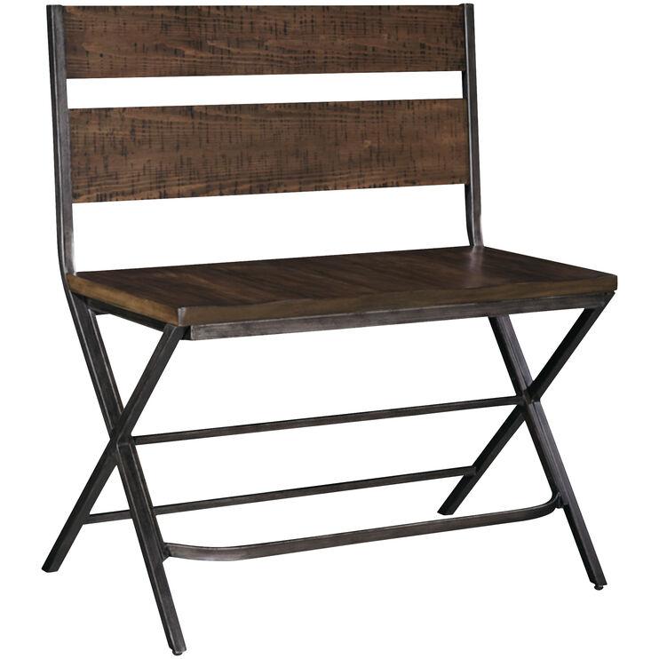 Kavara Medium Brown Counter Height Bench