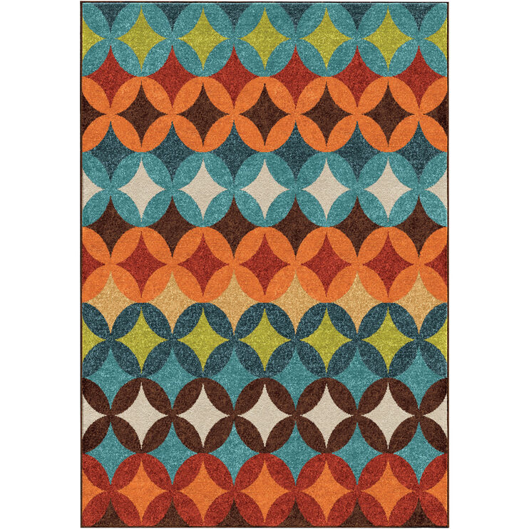 Veranda Berkley Multi 8 x 11 Rug