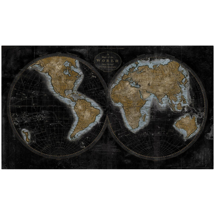 Maps The World in Gold