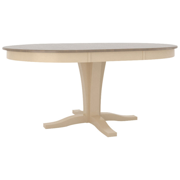 Kirkland Weathered Gray 48 Inch Pedestal Table