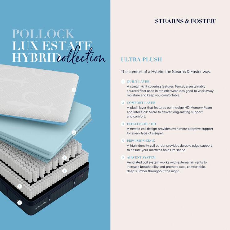 Hybrid Pollock Luxury Ultra Plush Velvet Top Sides Twin XL Mattress