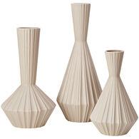Ink Ivy 3 Pc Stone Vase Set