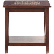 Mosaic Baroqu Brown End Table