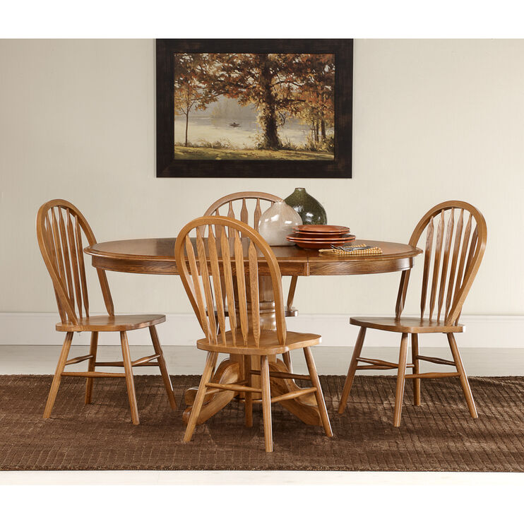 Jefferson 5 Piece Laminate Pedestal Set