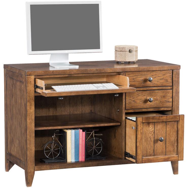 Hearthstone Rustic Oak Computer Desk