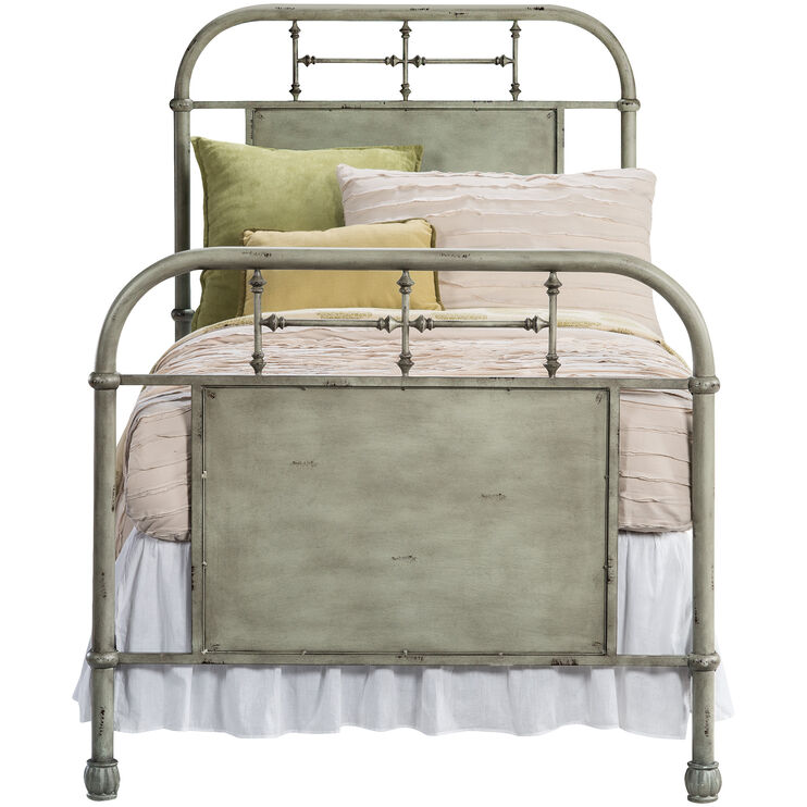 Vintage Green Twin Bed