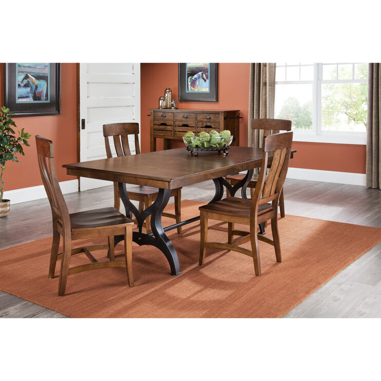 District Copper 5 Piece Dining Set