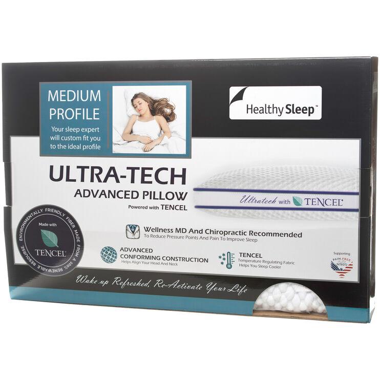 Ultra-Tech Queen Medium Profile Pillow