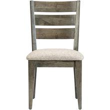 Uptown Mist Gray Ladder Back Side Chair