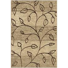 Four Seasons Kingwood Tan Leaves 8x11 Rug