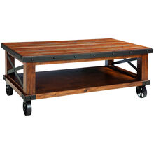 Taos Canyon Brown Caster Coffee Table