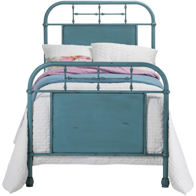 Vintage Blue Twin Bed