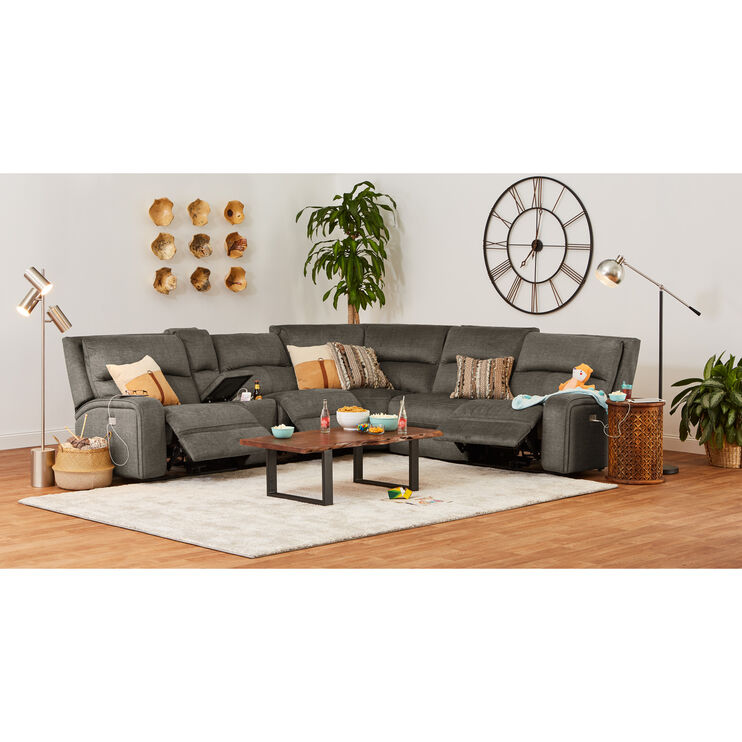 Cordova Charcoal Power+ 6 Piece Sectional