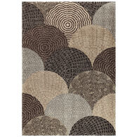 Wild Weave Oystershell Black 8 x 11 Rug