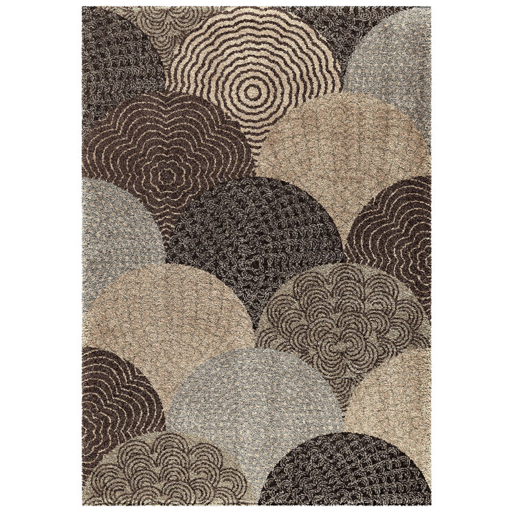 Wild Weave Oystershell Gray Circles 8 x 11 Rug