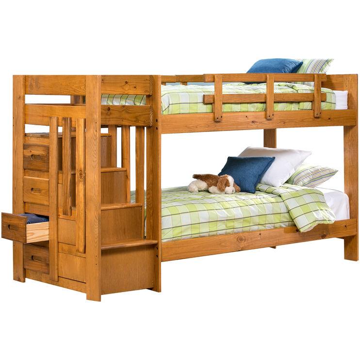 Slumberland Furniture Tanglewood Honey Twin Over Twin Bunk Bed