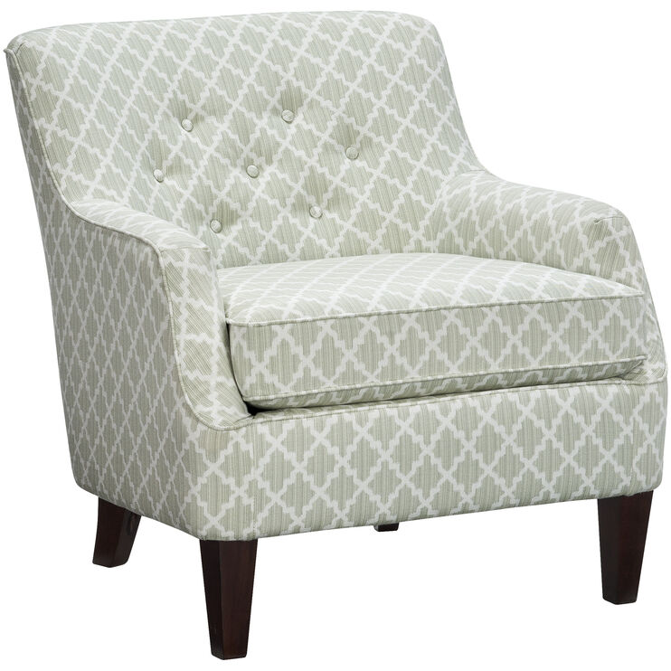 Cecil Sage Tufted Accent Chair