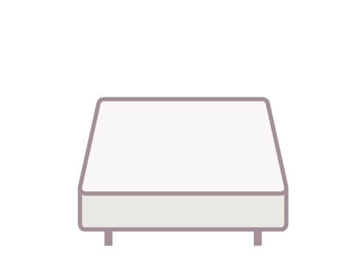 Tempur-Pedic Grey Full Ultra Low Profile Fdn