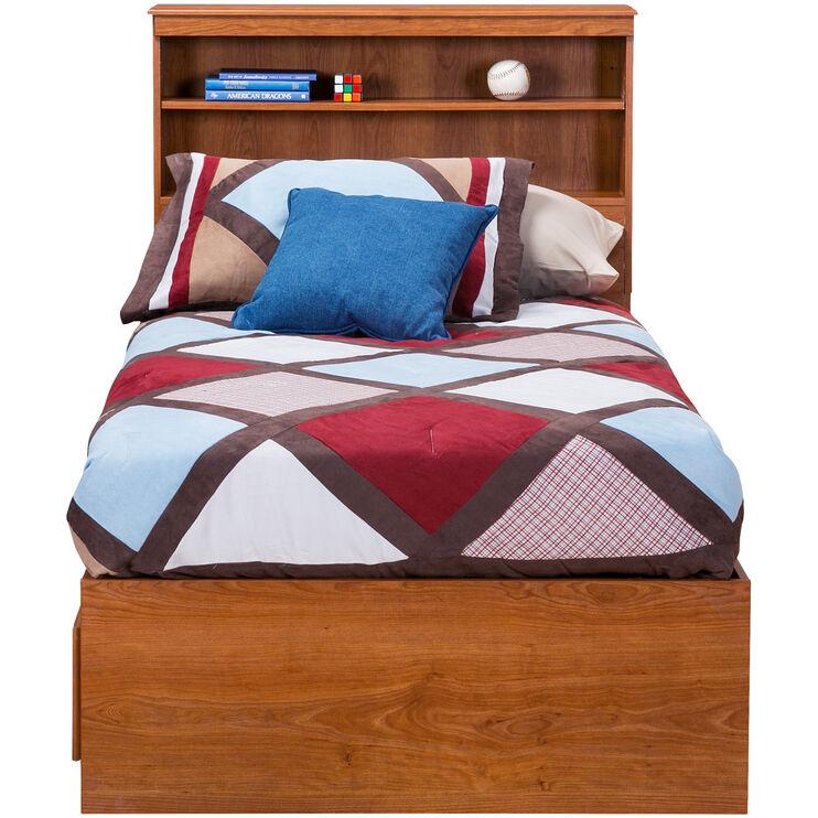 Jacob Oak Twin Bookcase Capt Bed