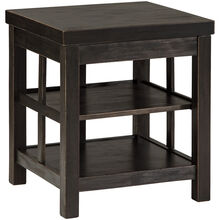 Gavelston Black Two Shelf End Table