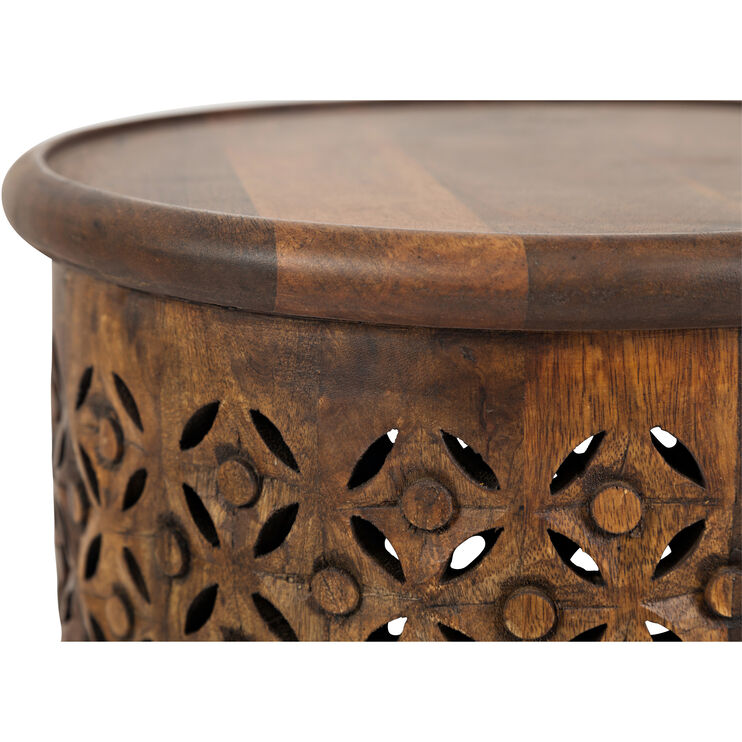 Global Archive Mango Drum Table