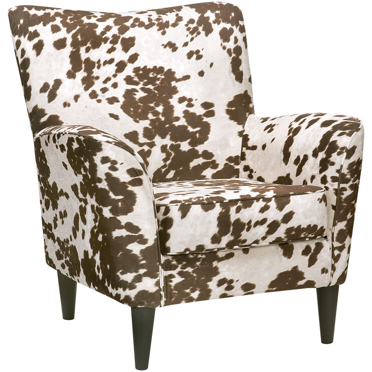Cora Cream Cow Print Accent Chair