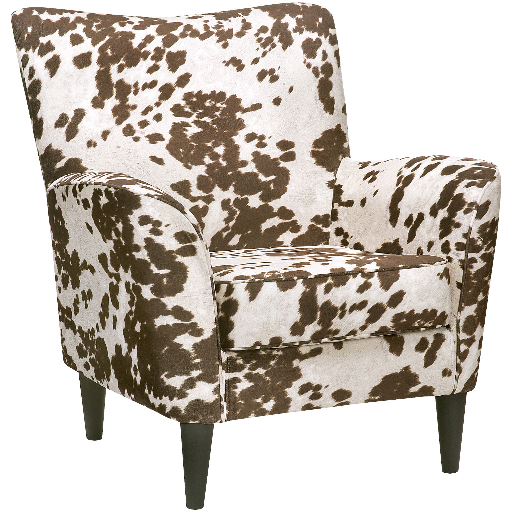 Great ... Cora Cream Cow Print Accent Chair ...