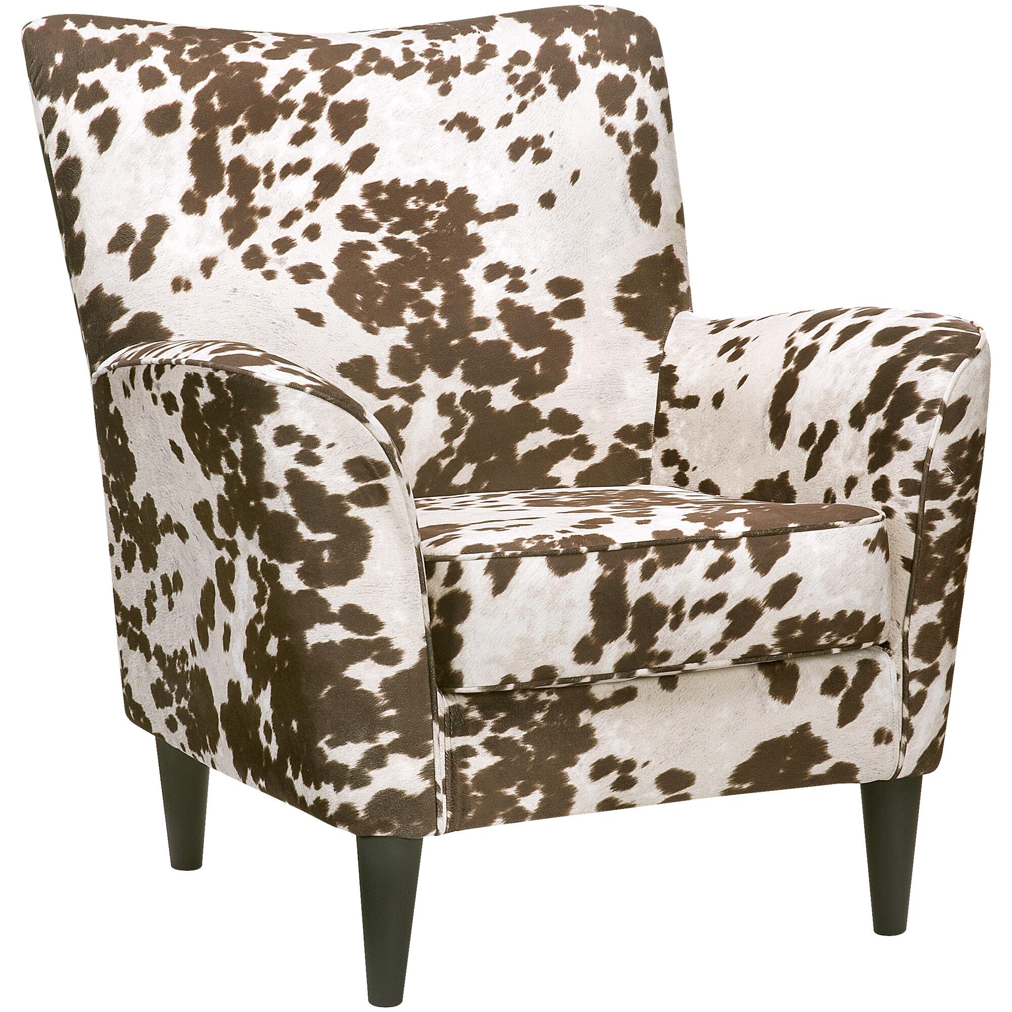 ... Cora Cream Cow Print Accent Chair ...