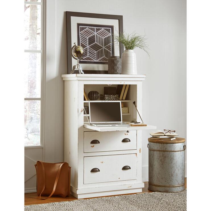 Willow White Armoire Desk