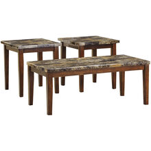 Theo Faux Marble Set of 3 Tables