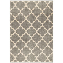 Heritage Tunnis Pewter Gray Tiles 5 x 8 Rug