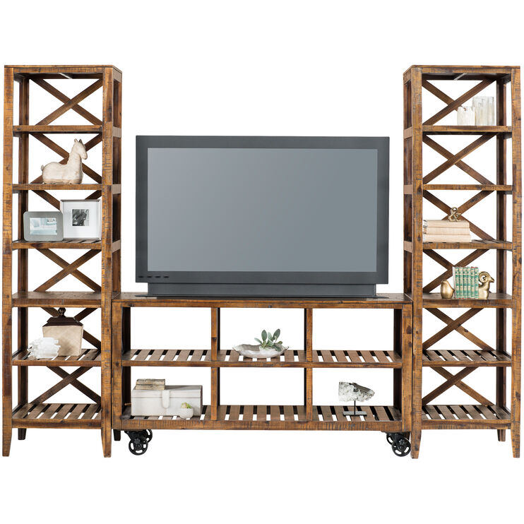 Loftworks Distressed Brown 60 Inch Cart
