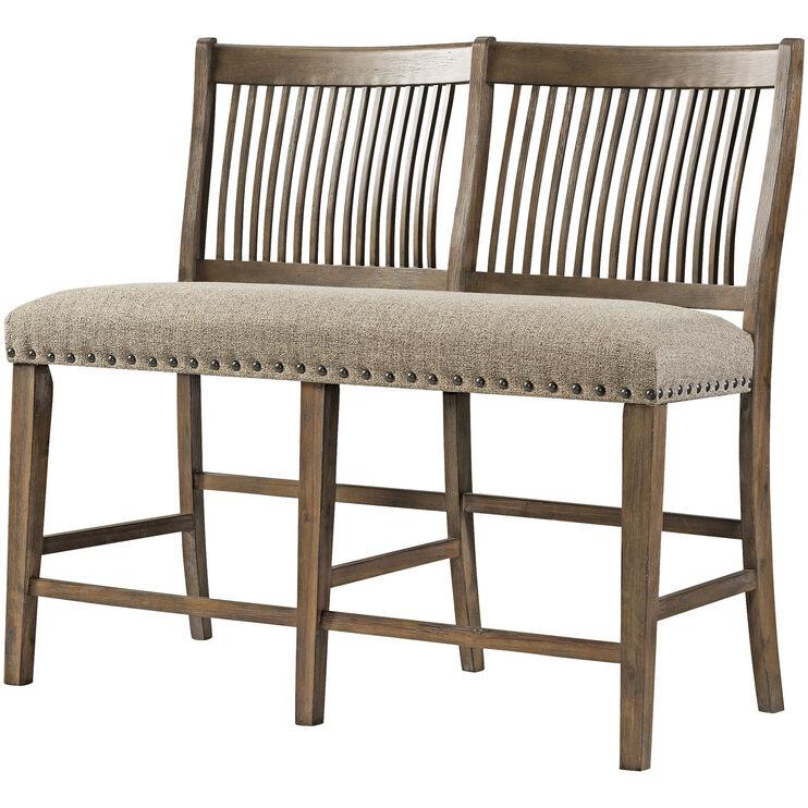 Charleston Barley Oak Counter Height Bench